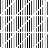 3. Como patrón uno, pero con crestas verticales unidireccionales.