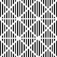 8. Como patrón tres, pero con las crestas diagonales que van en ambos sentidos.