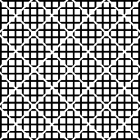 10. Similar to pattern six, but with the waffle pattern seperated as rhombs, rather than squares.