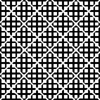 10. Similar al patrón seis, pero con el patrón de waffle separado como rombos, en lugar de cuadrados.